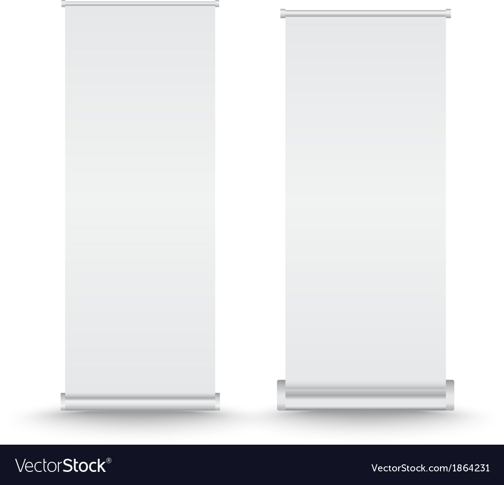 Set of roll up banner