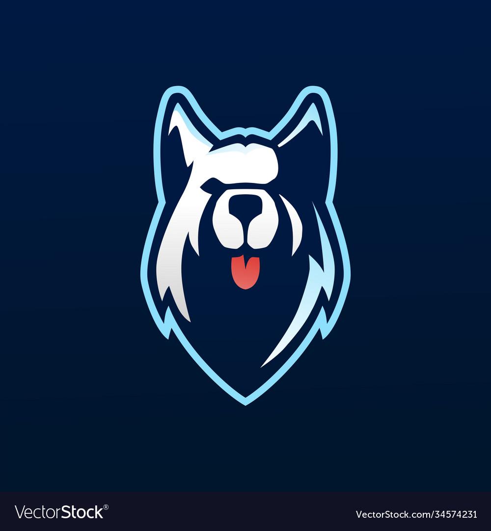 Siberian husky e sport logo icon