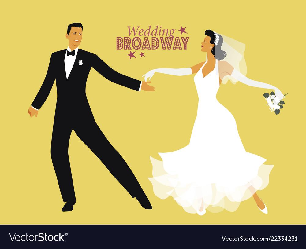 Wedding dance bride and groom dancing broadway