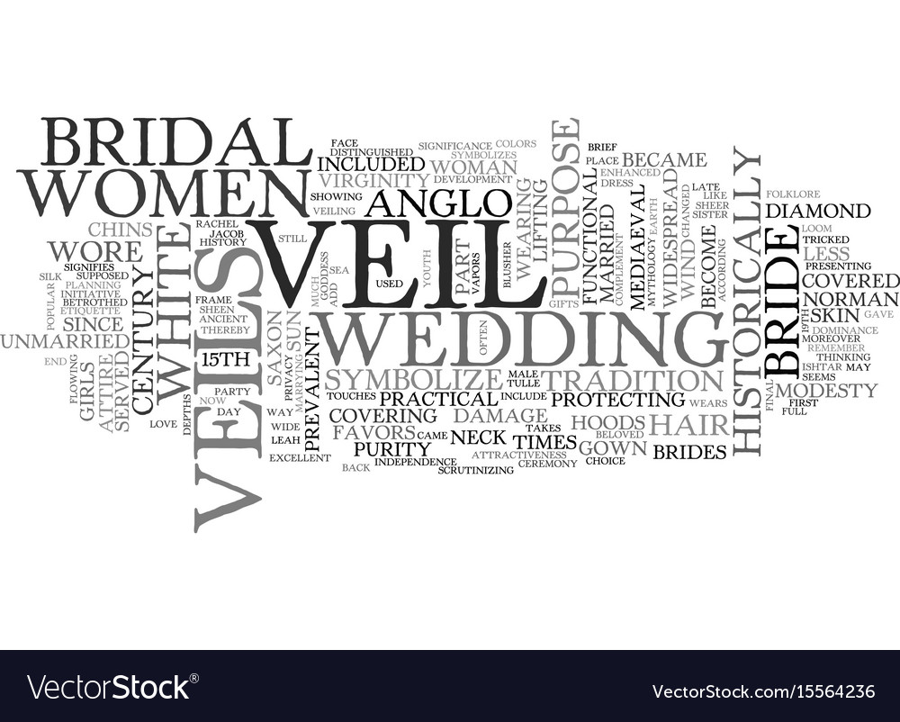 A brief history of the bridal veil text word vector image