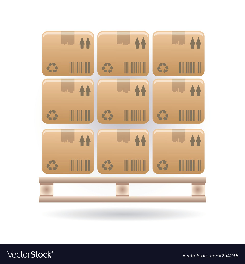Boxes icon vector image