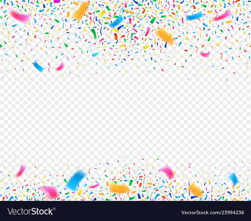 Color confetti carnival party background