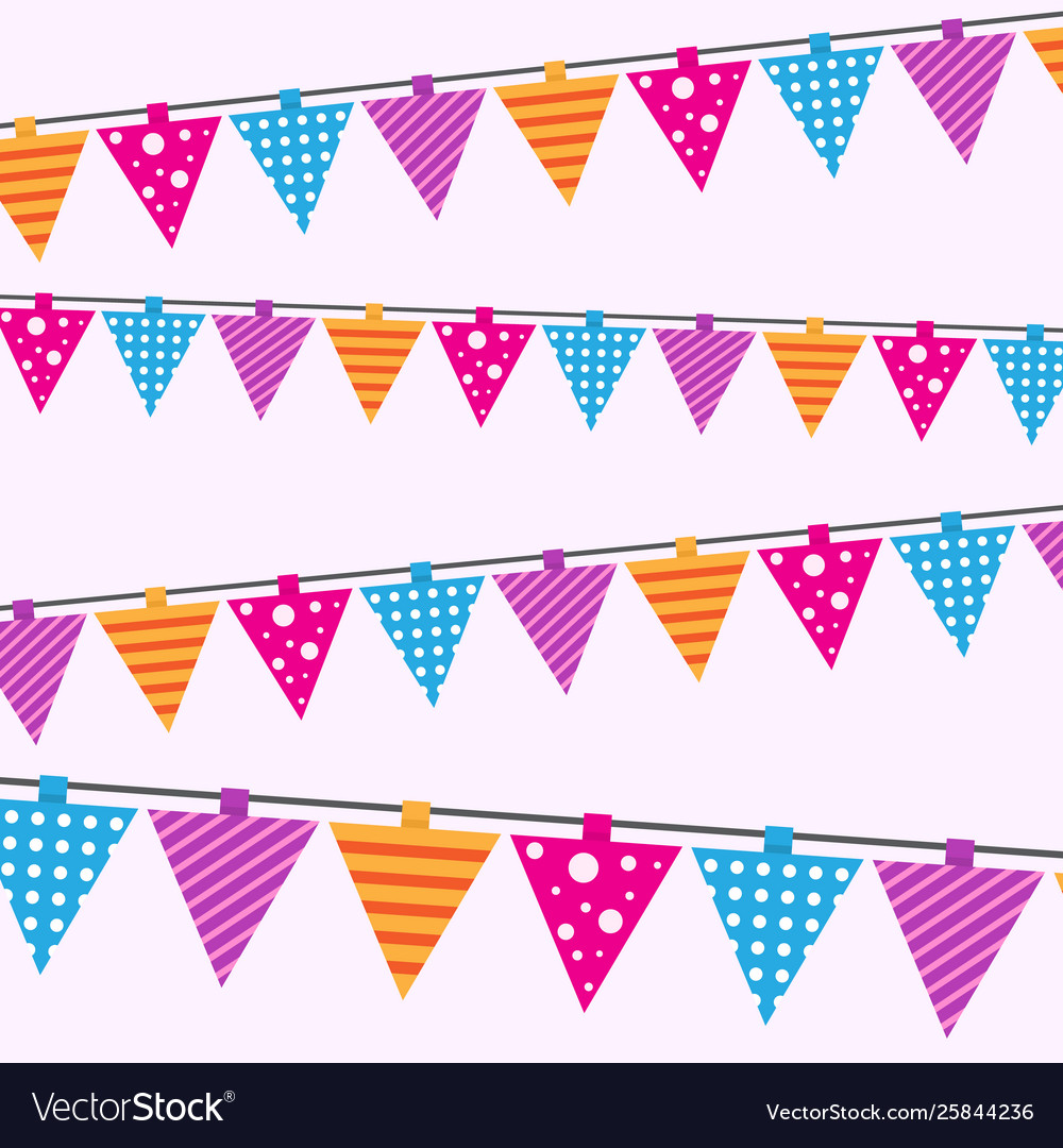 Happy birthday card seamless pattern bright