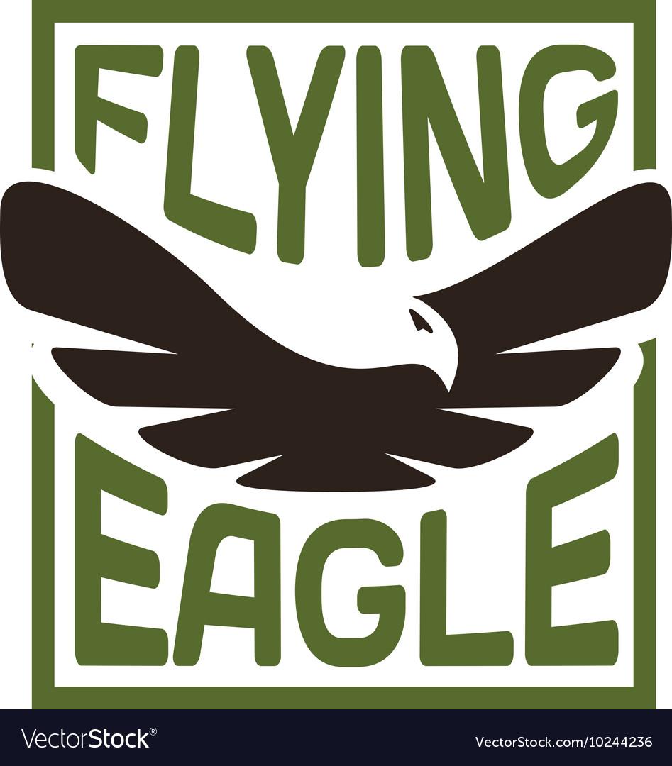 Isolated eagle silhouette logo Bird
