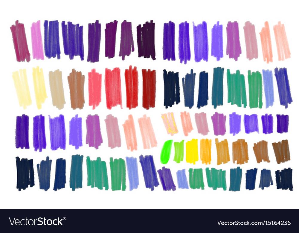 Marker stroke spots bright color