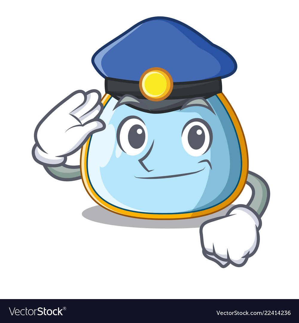 Police Character Baby Bib For Feeding Toddler Vector Image - Toddler-cartoon-characters