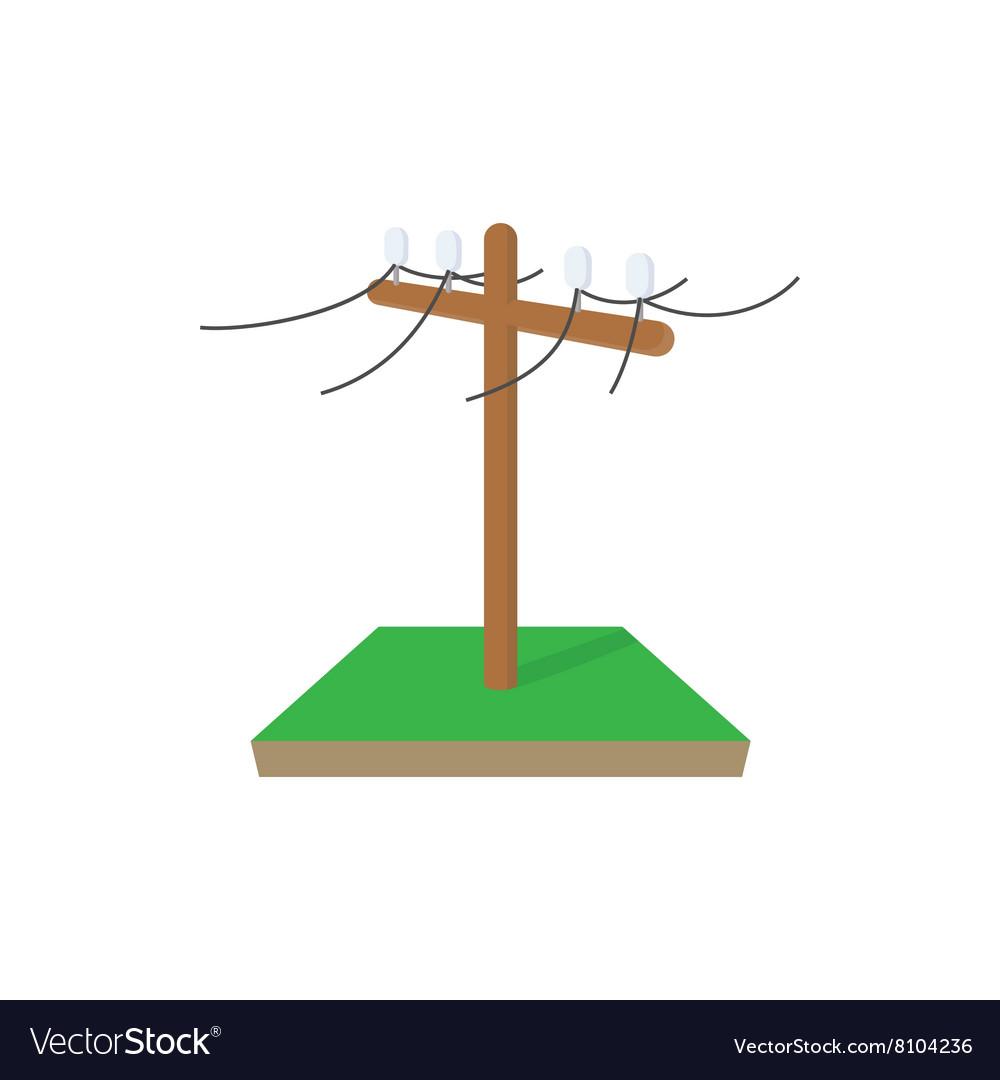 Power pole icon cartoon style vector image