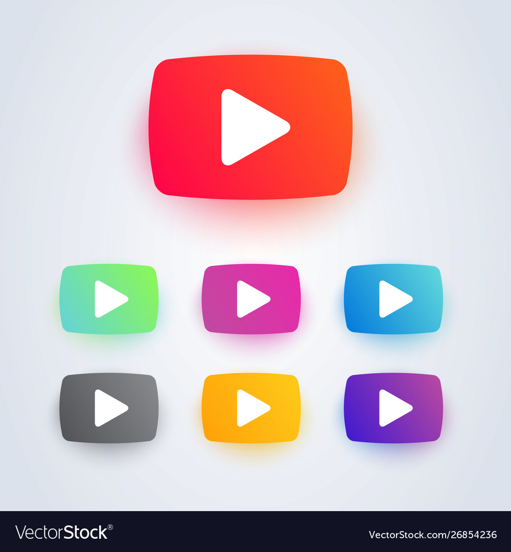 Set video play button icon in different colors