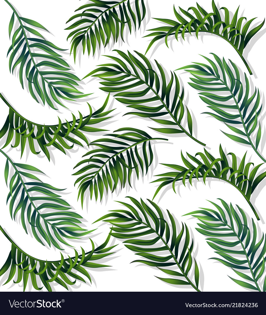 Tropic leaves pattern detailed 3d exotic