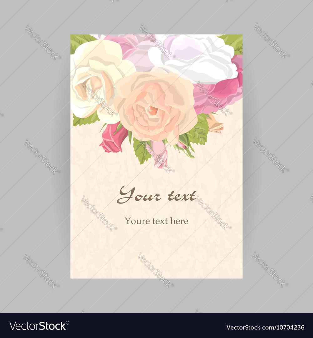 Vertical romantic greeting card vector image