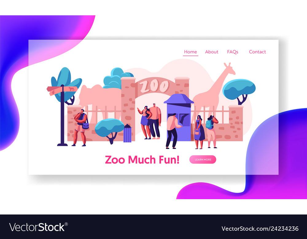 Zoo entrance gate with giraffe elephant web page