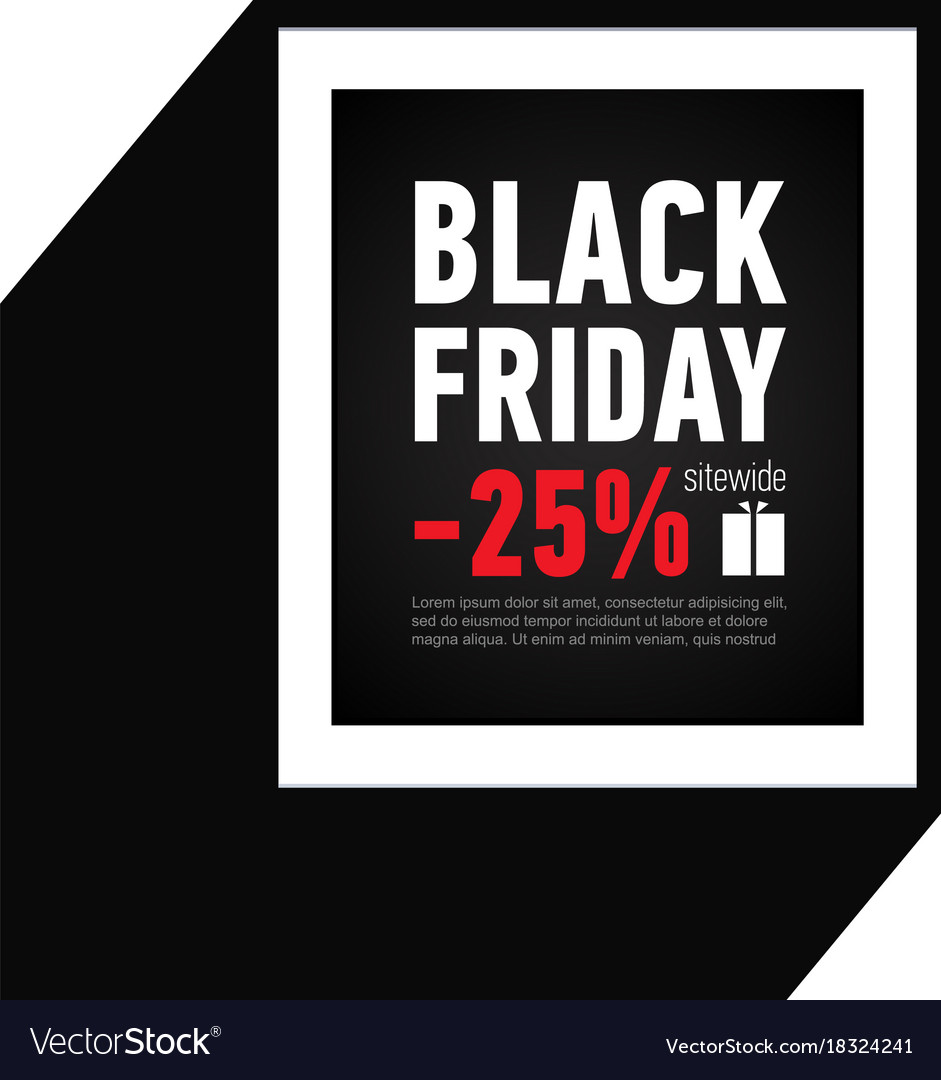 6e1113708a0b Black friday sale banner sale 25 off sitewide Vector Image