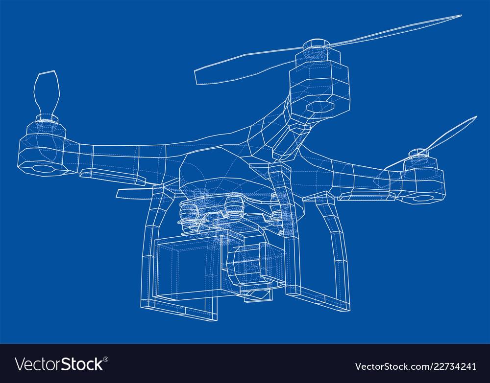 Drone concept rendering of 3d vector image on VectorStock