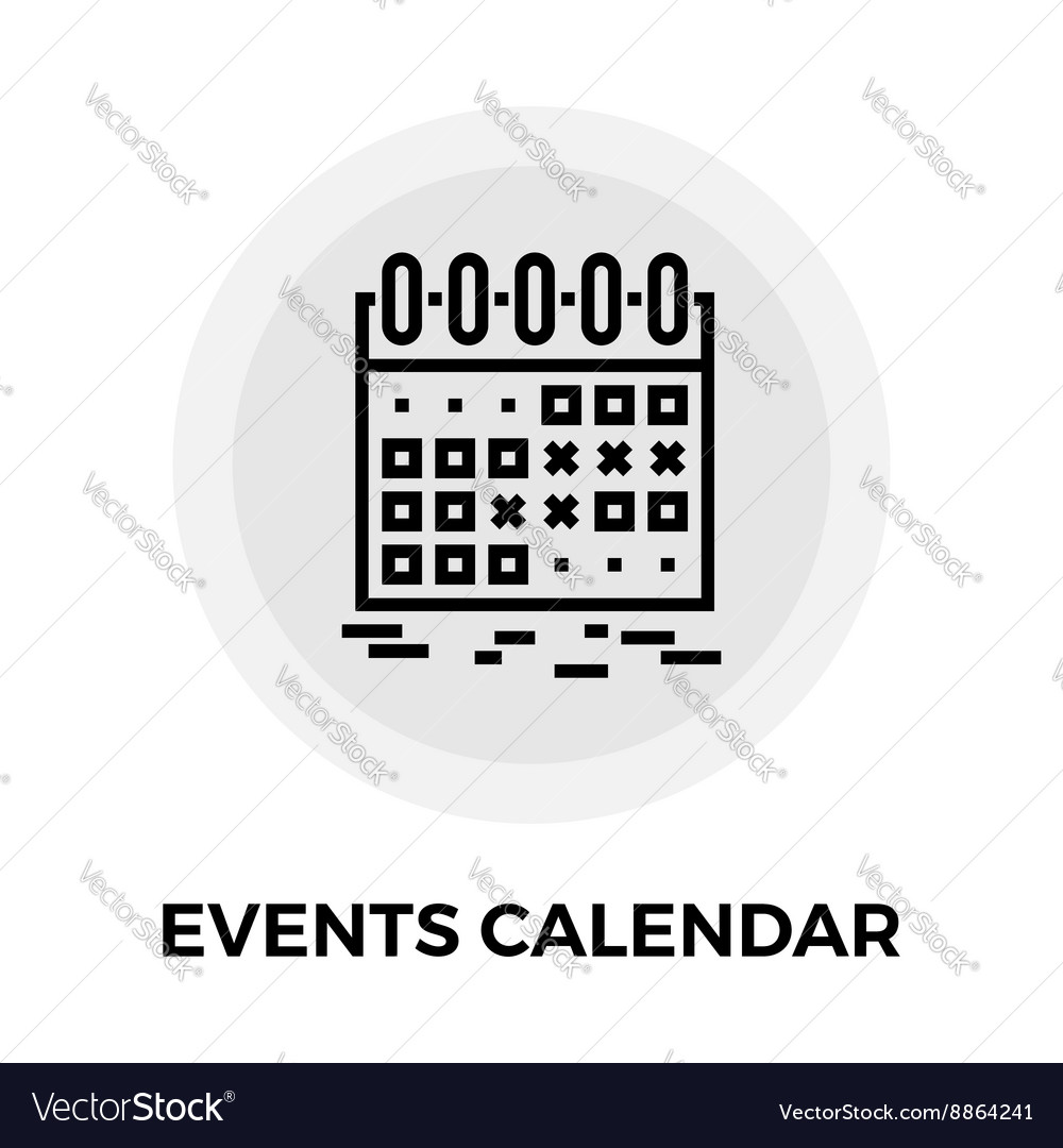 Events Calendar Line Icon