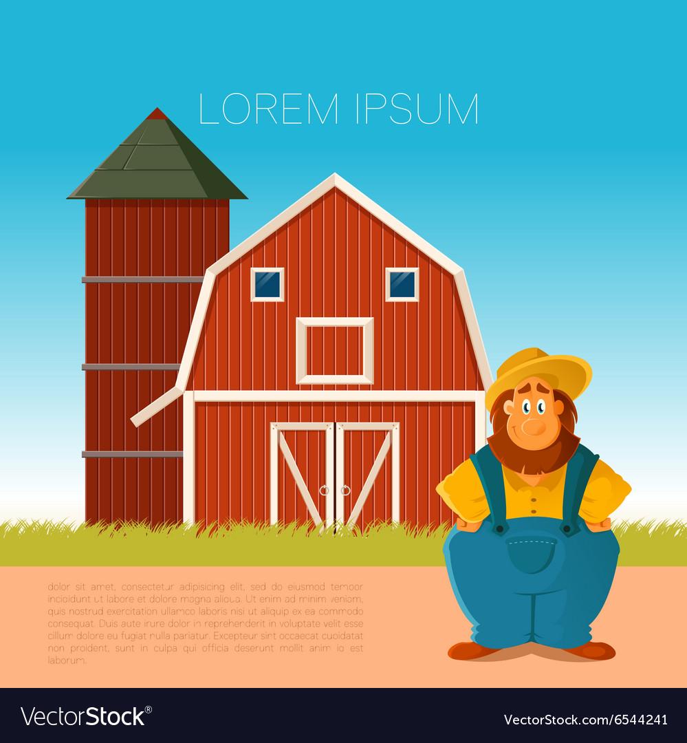 Farm banner with a farmer vector image