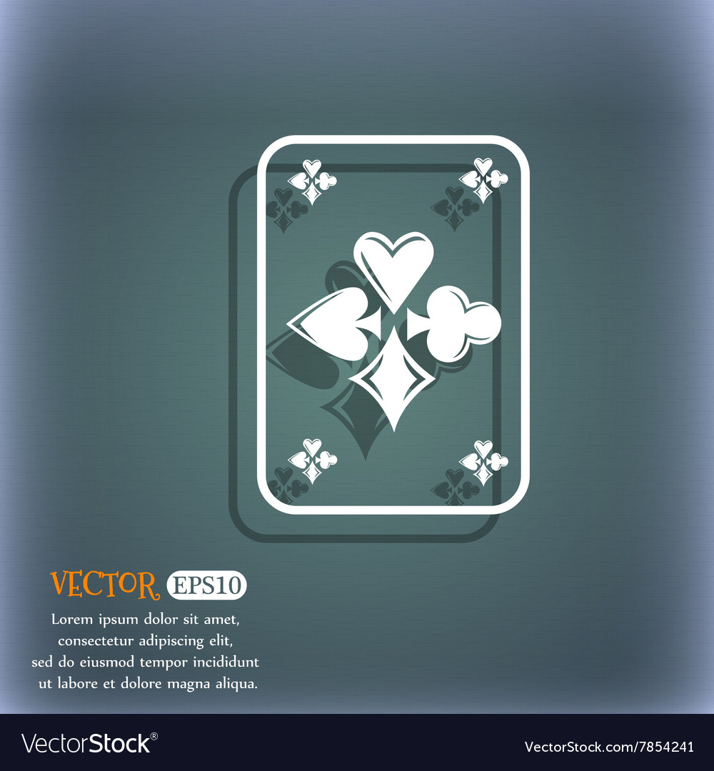 Game cards icon On the blue-green abstract