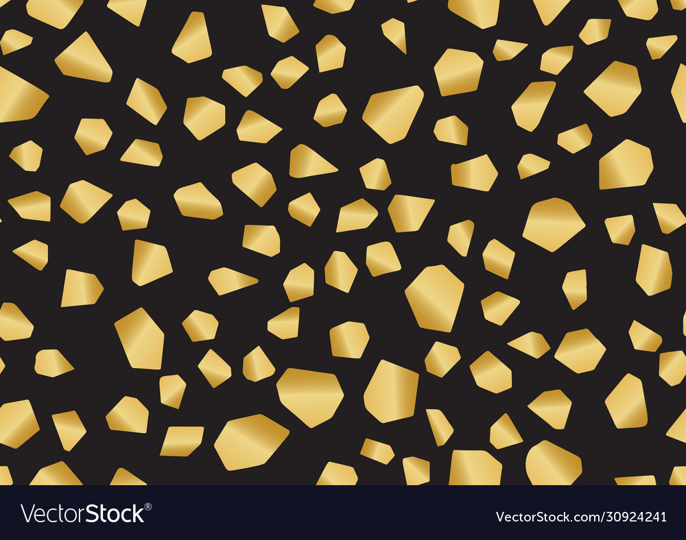 Gold terrazzo seamless pattern in trendy style