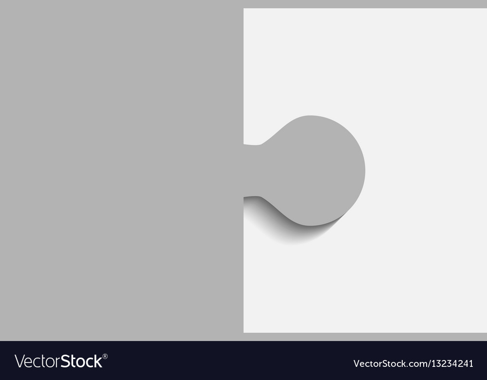 Grey piece puzzle jigsaw 2 step vector image