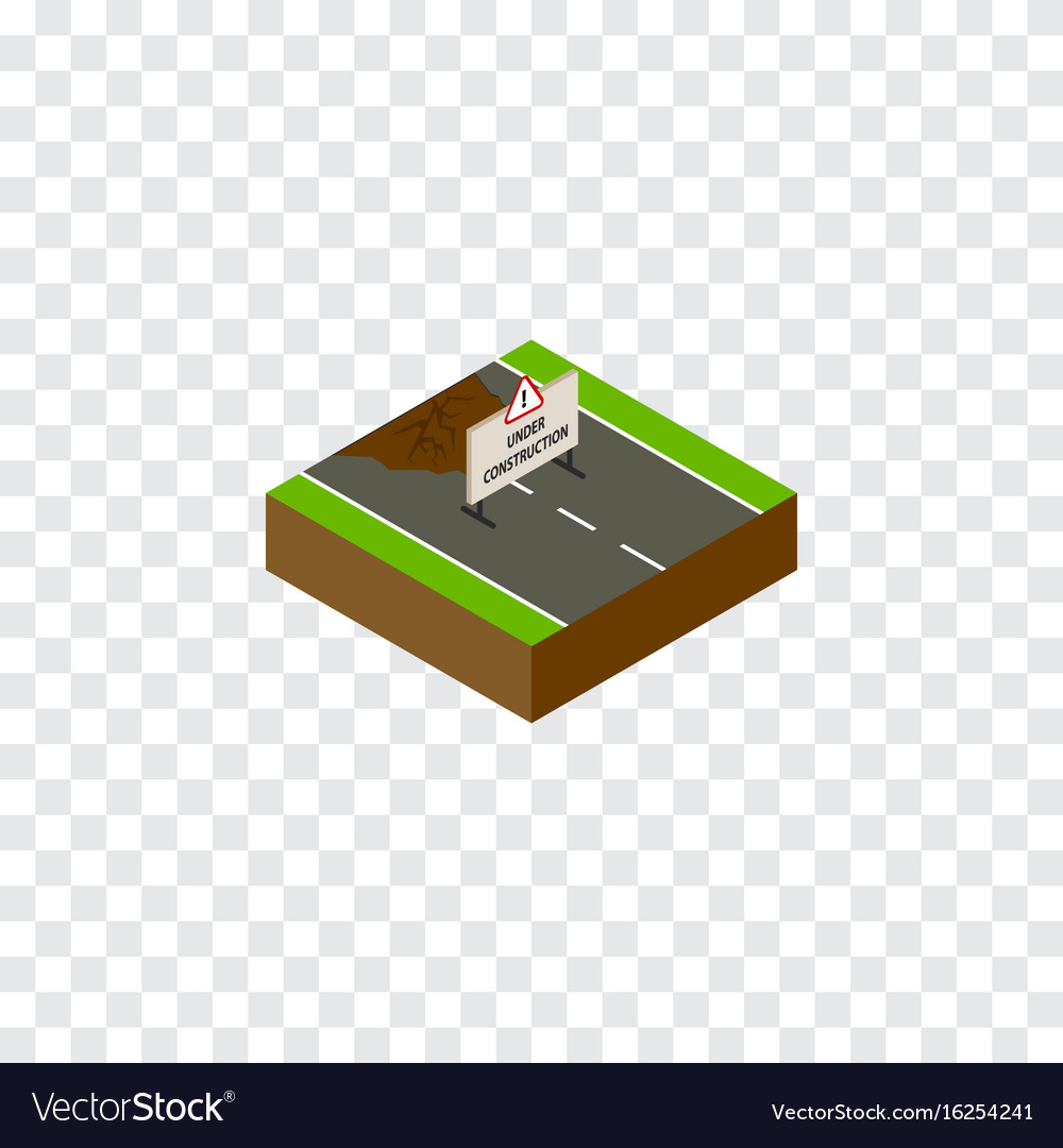 Isolated under construction isometric repairs vector image