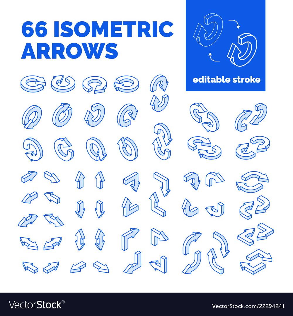 Isometric arrows set