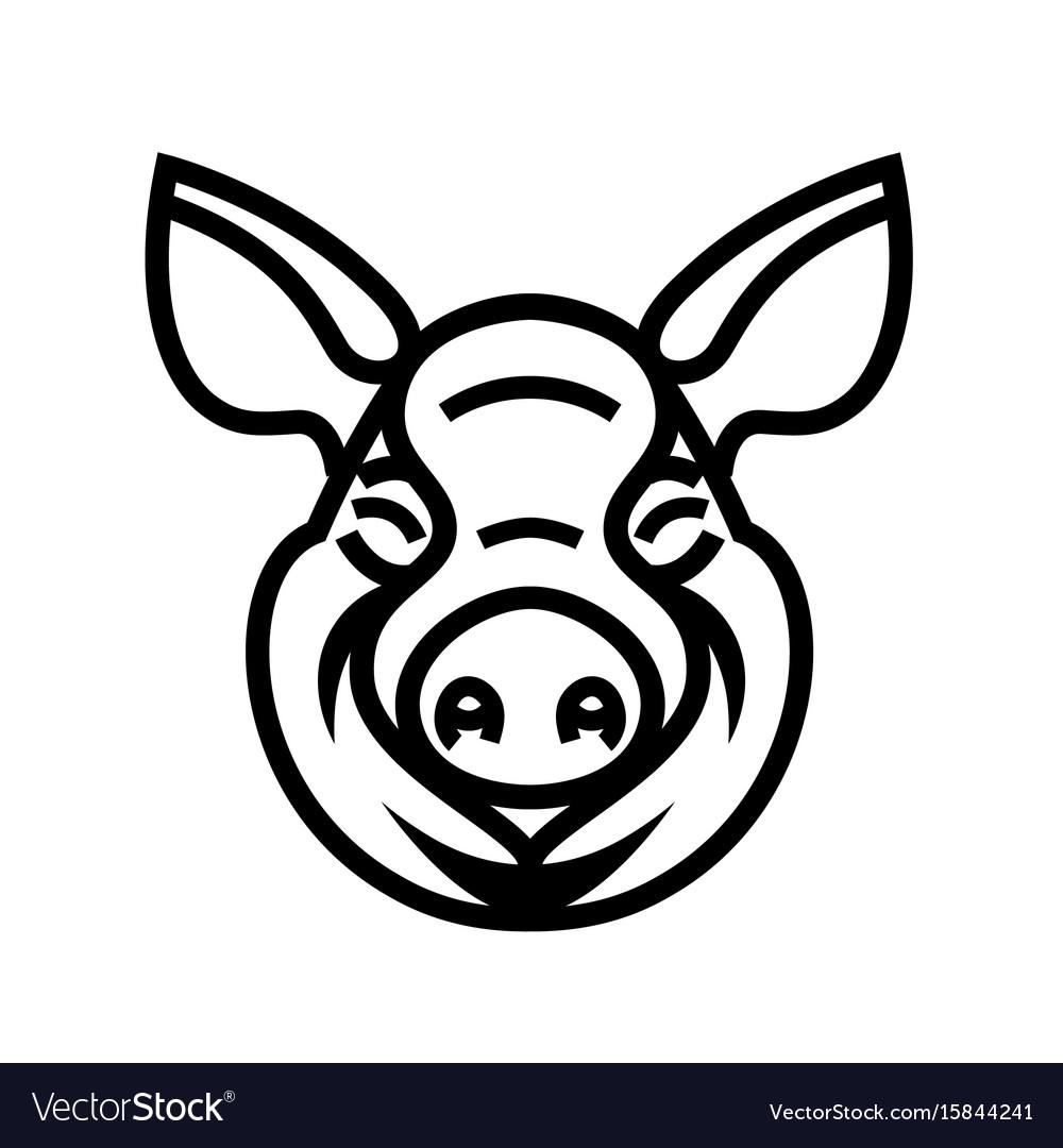 Pig head logo mascot emblem