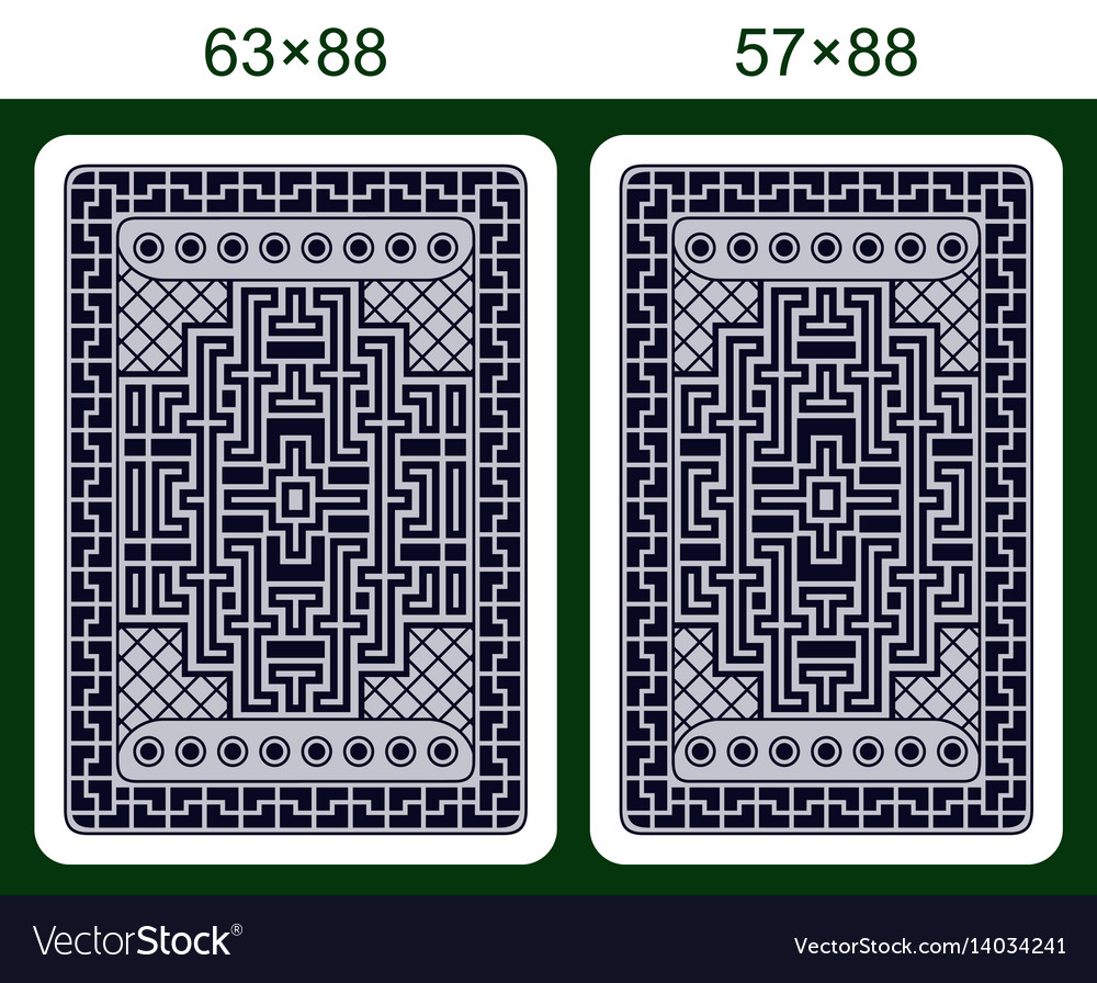 Playing card back side design vector image