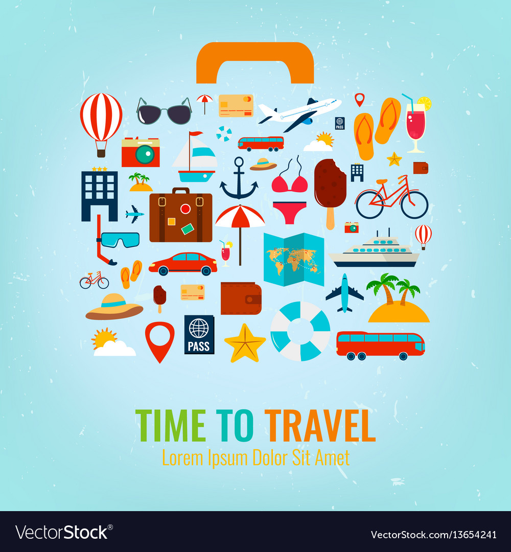 Travel holiday vacation suitcase travel and