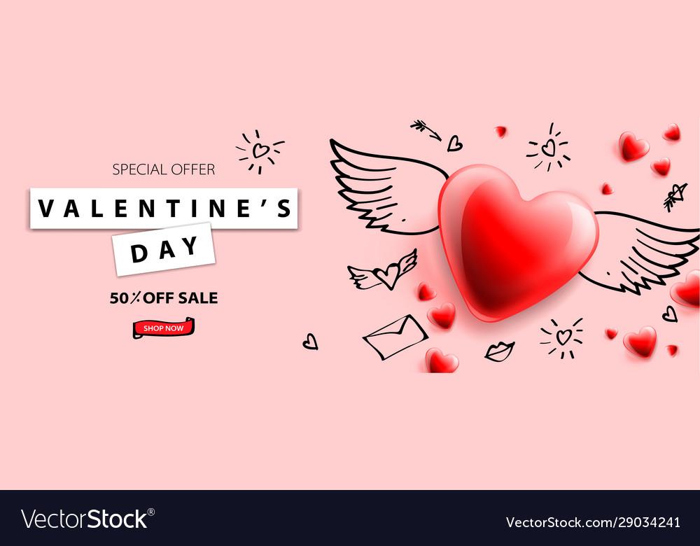 Valentines day sale background romantic
