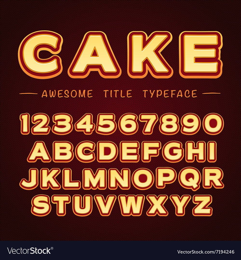 3D Title Font in Cartoon style