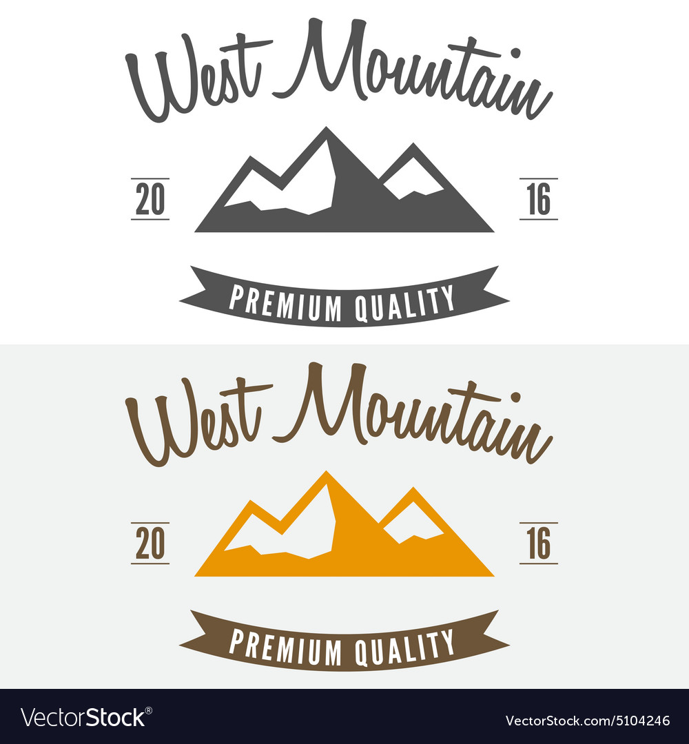 Abstract mountain logo label emblem badge and