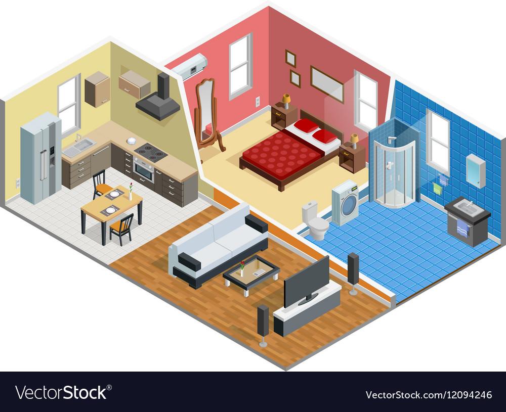 Apartment Isometric Design