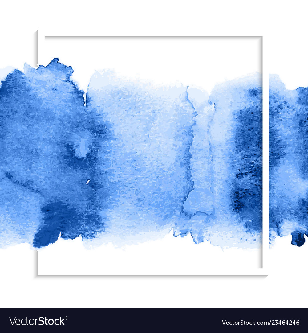 Blue abstract watercolor stain