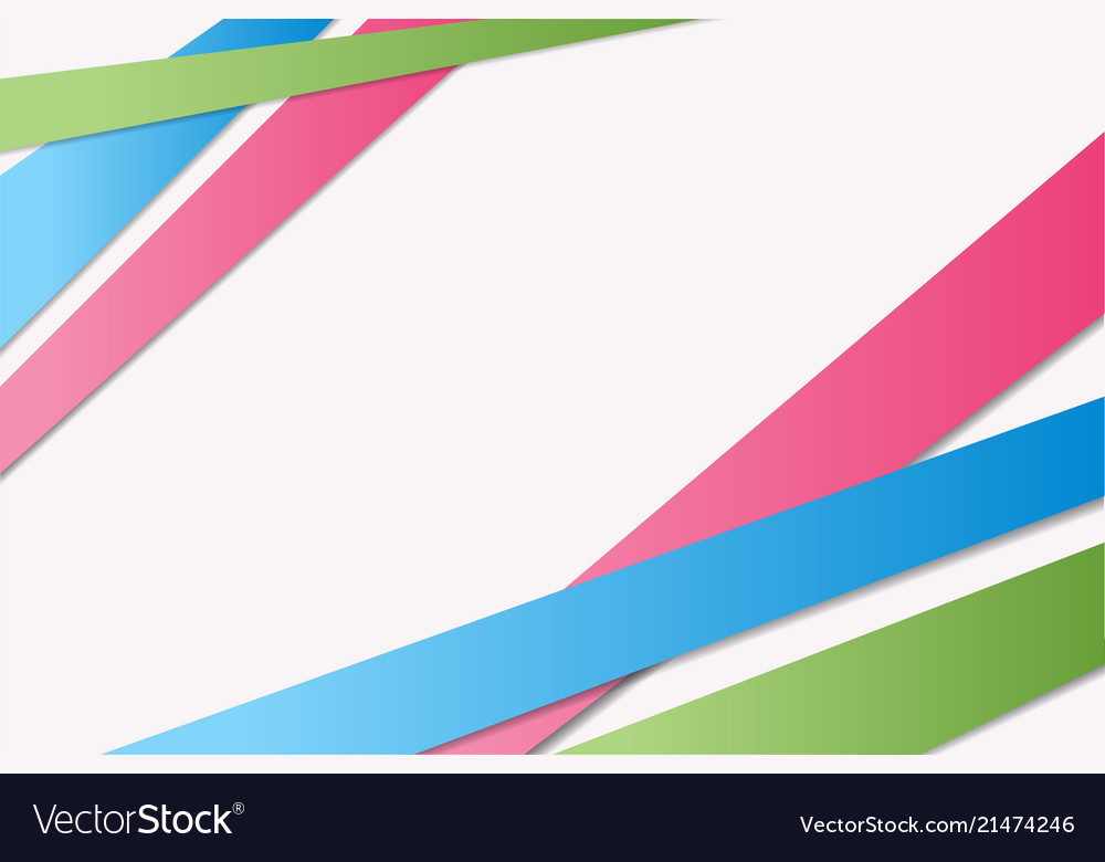 Bright greenbluepink stripes with shadowsabstract