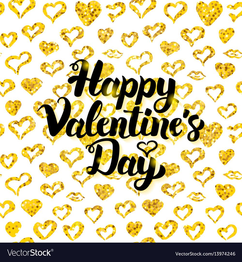 Happy valentines day handwritten card