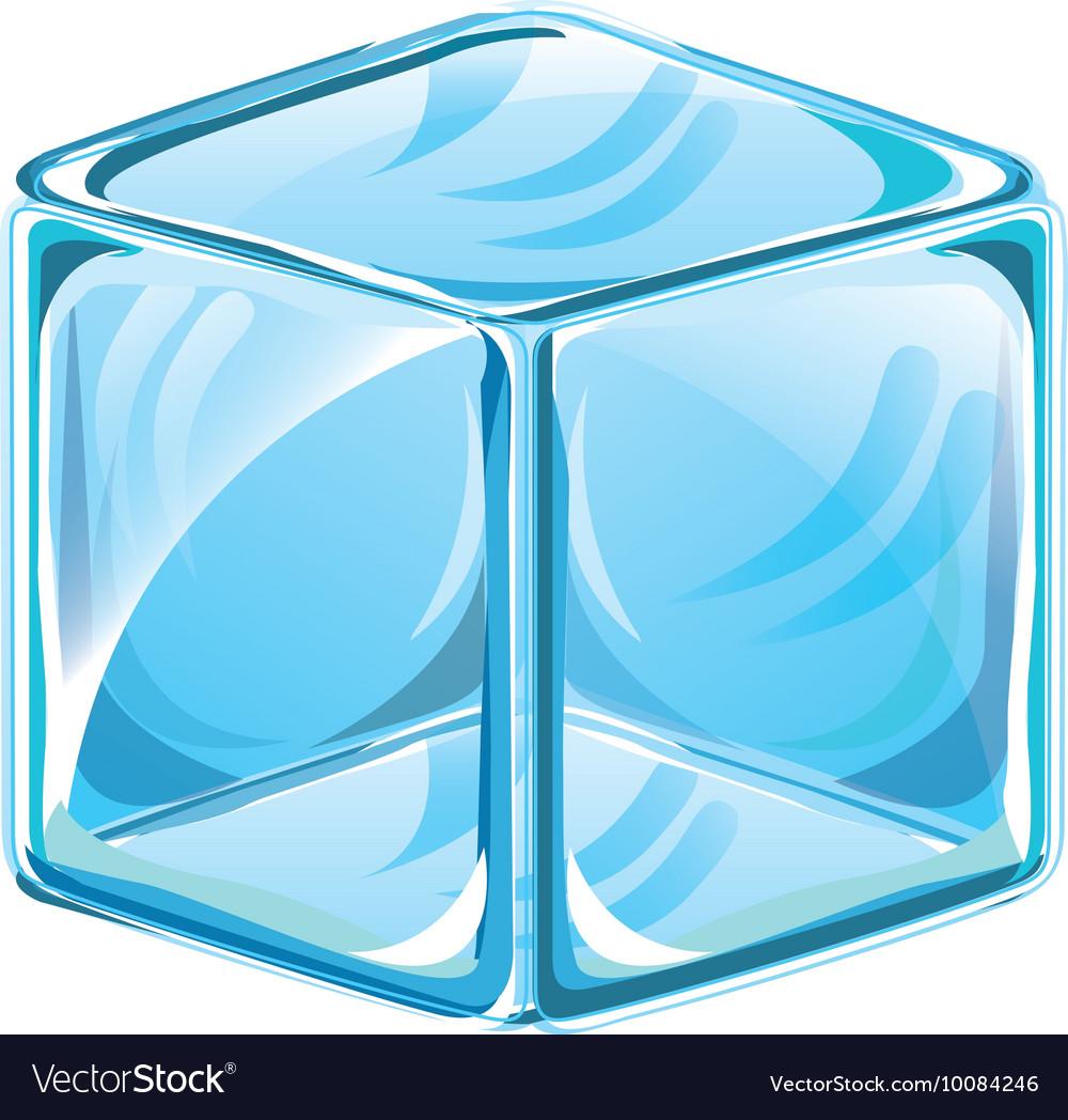 Ice cube isolated icon