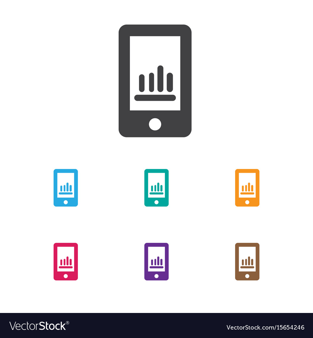 Of statistic symbol on phone vector image