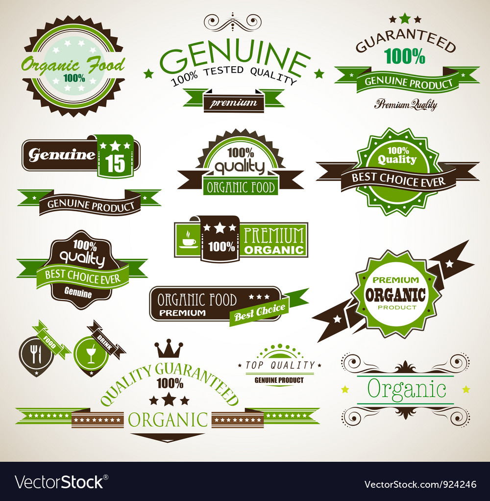 Organic and Genuine Product Labels