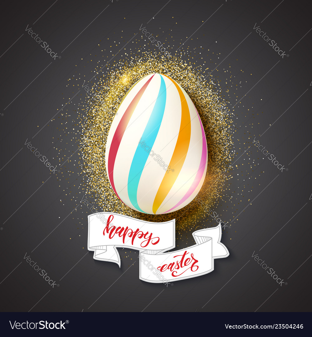 Painted egg for celebration of happy easter on