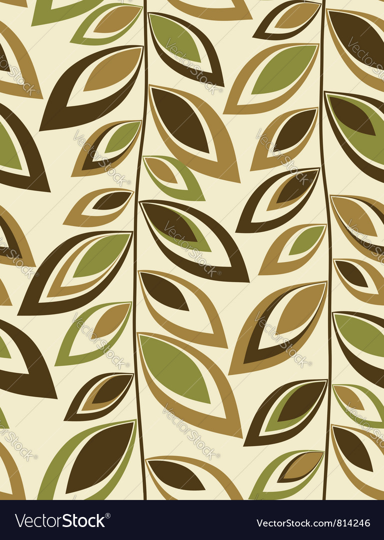 Retro leaves - Seamless background