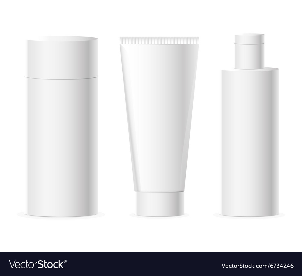 Set of cosmetics packages vector image