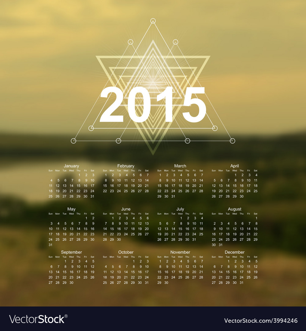 The Great Outdoors Calendar Vector Image