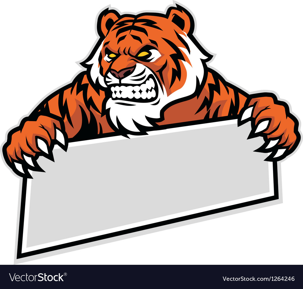 Tiger grip the banner vector image