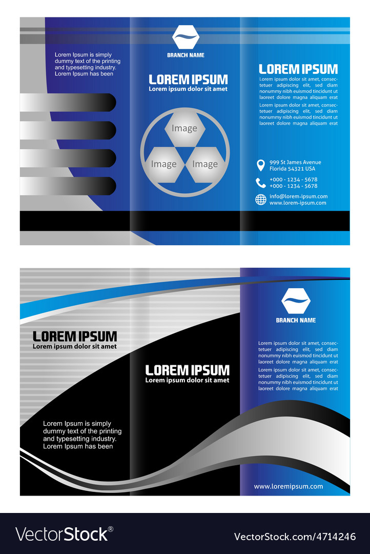 Tri fold business brochure template royalty free vector tri fold business brochure template vector image friedricerecipe Image collections