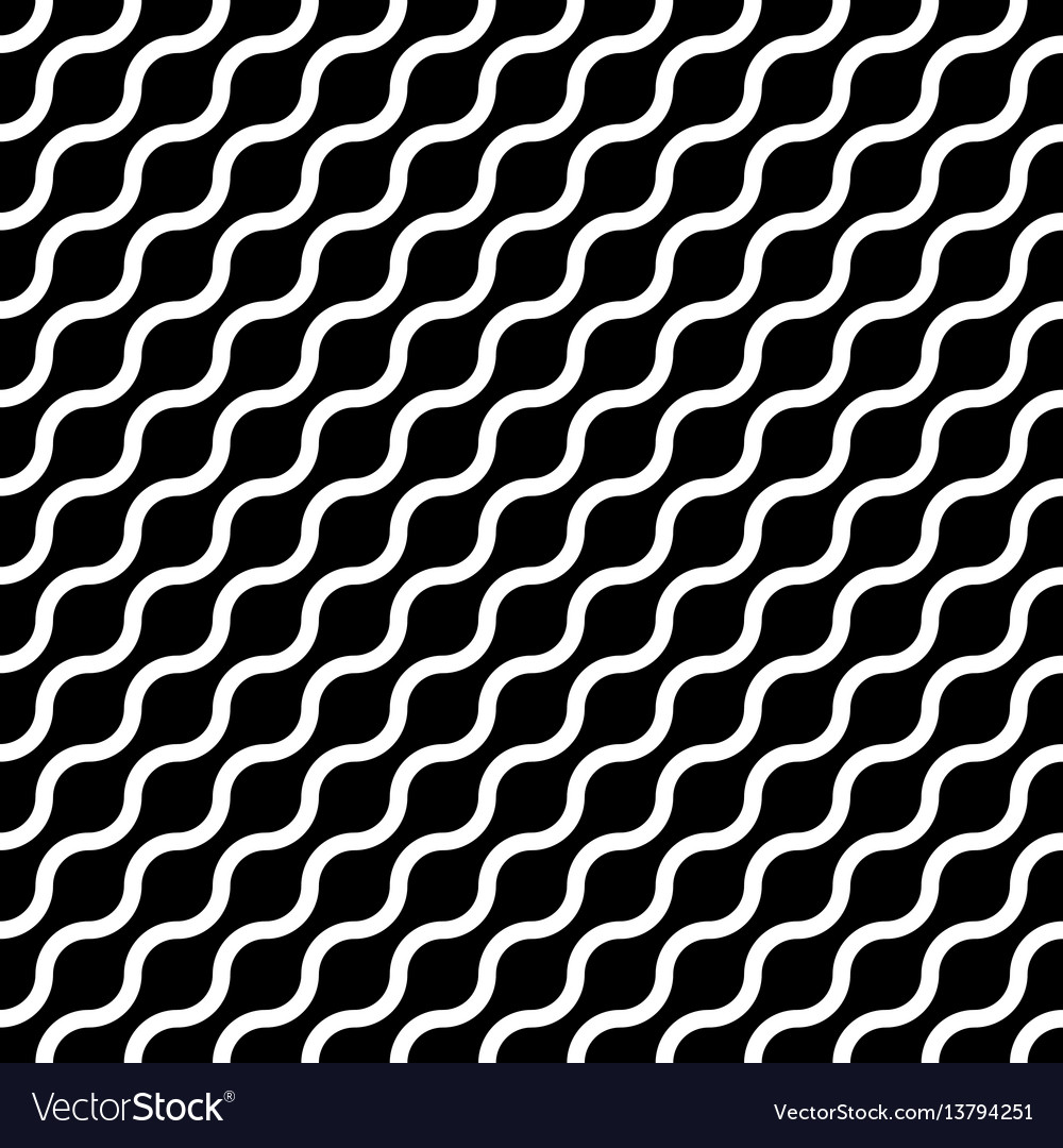 Abstract seamless pattern with white waves in