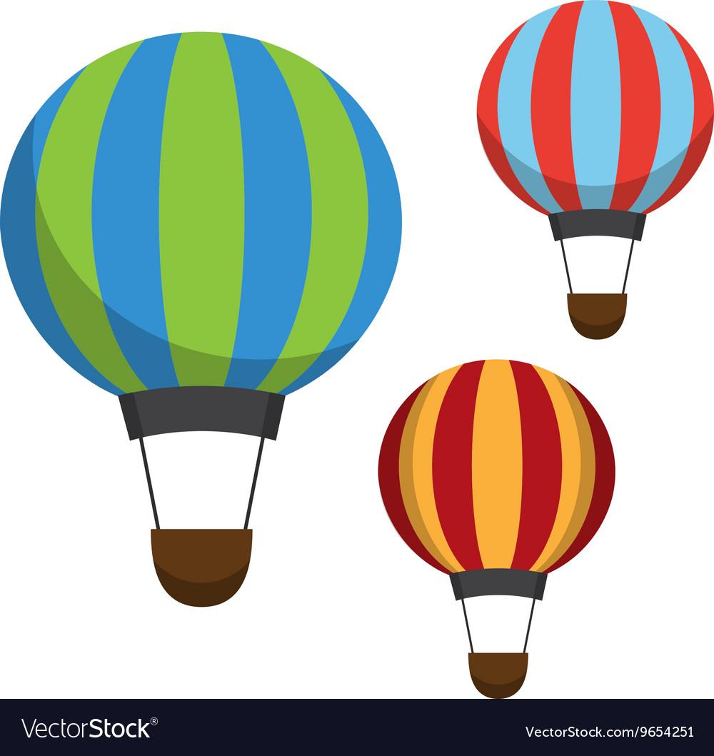 Air balloon icons