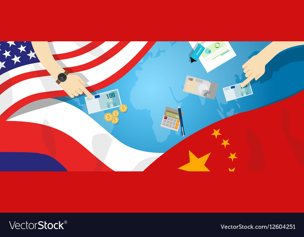 America USA Russia China relation international vector image