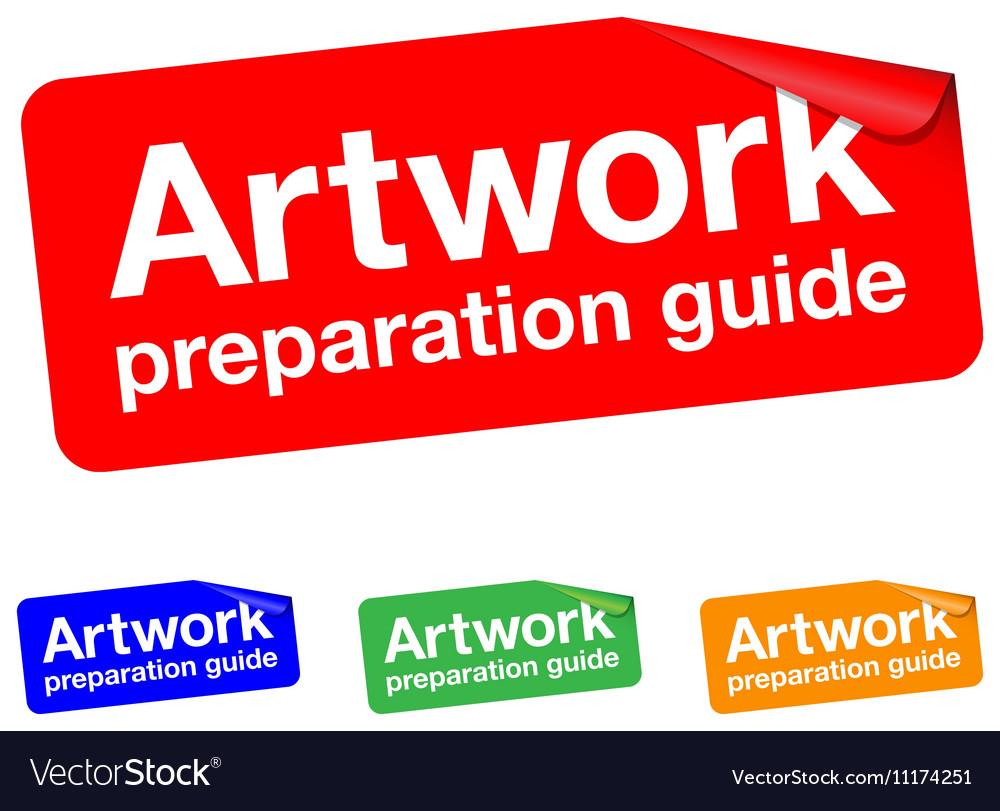 Artwork guide sticker