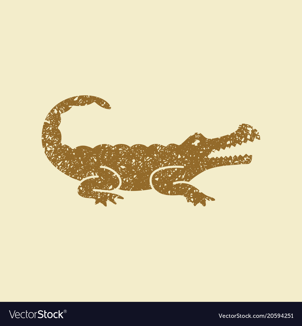 Crocodile silhouette icon
