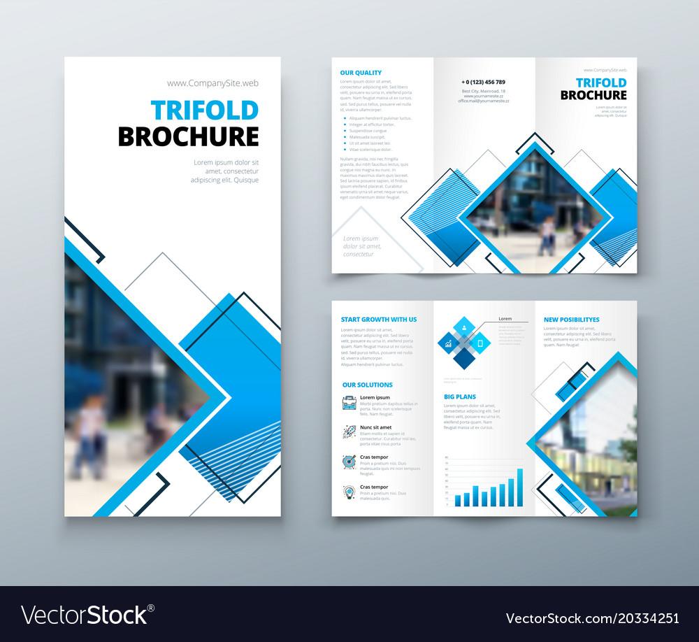Tri fold brochure design corporate business