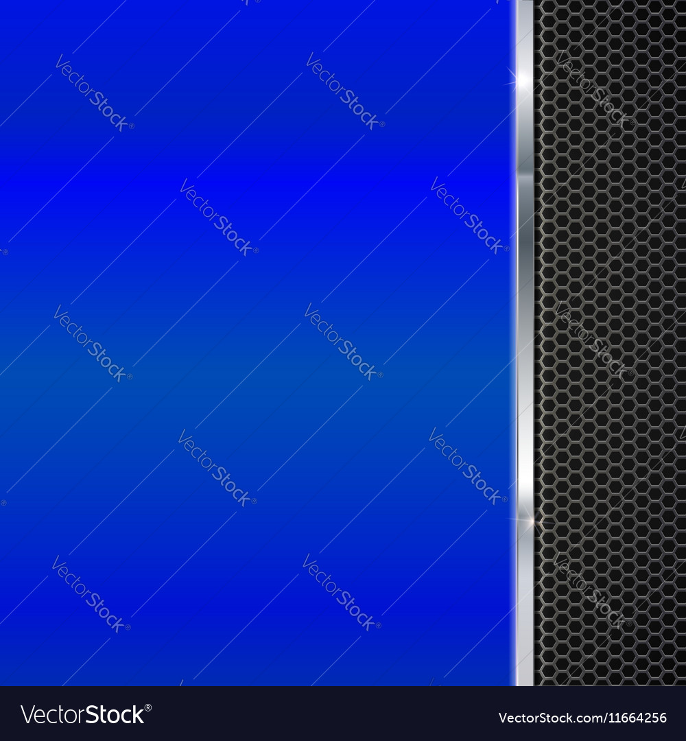 Background of polished red metal and black mesh